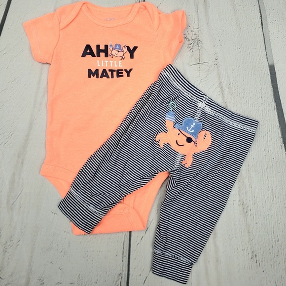 9a155b405 Carter's Matching Sets | Carters Baby Boy Crab Ahoy Little Matey ...